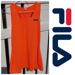 Fila orange workout racerback tank size medium